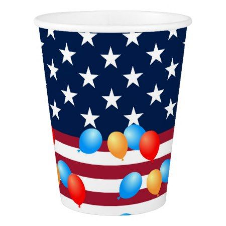 Fourth of July American Flag Gifts for Kids Paper Cup - tap to personalize and get yours