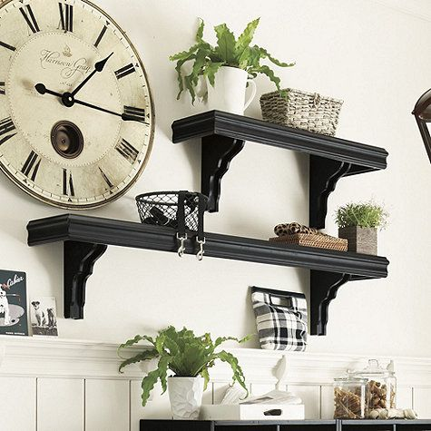 Detached Brackets Let You Customize Placement Of Our 3 Foot Cafe Shelf Over A Door Or Into Wall Studs Diy Home Bar Ballard Designs Home