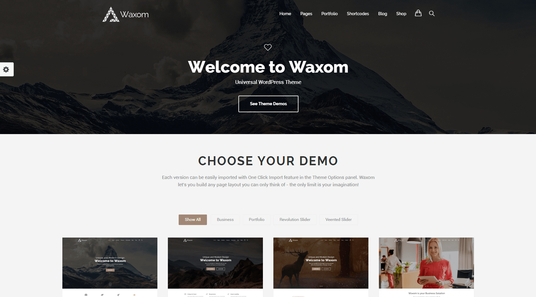 PSD template of the landing page is made in a modern clean
