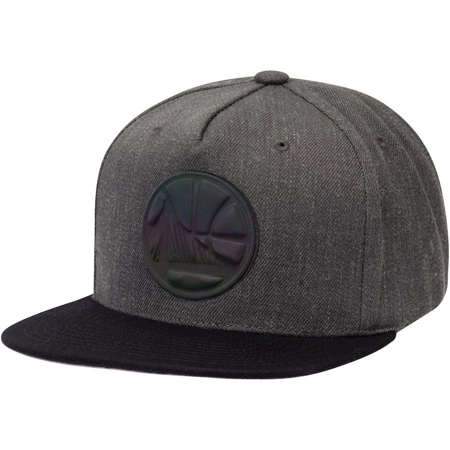 Men s Golden State Warriors Mitchell   Ness Charcoal Matte Tonal Snapback  Adjustable Hat 288c33337a43