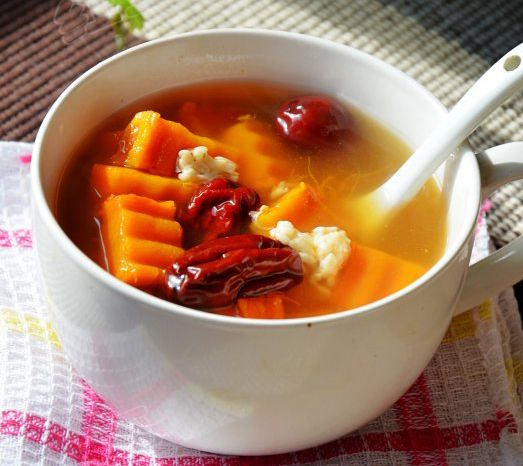 Pumpkin red date soup with rice wine chinese food recipes pumpkin red date soup with rice wine forumfinder Image collections