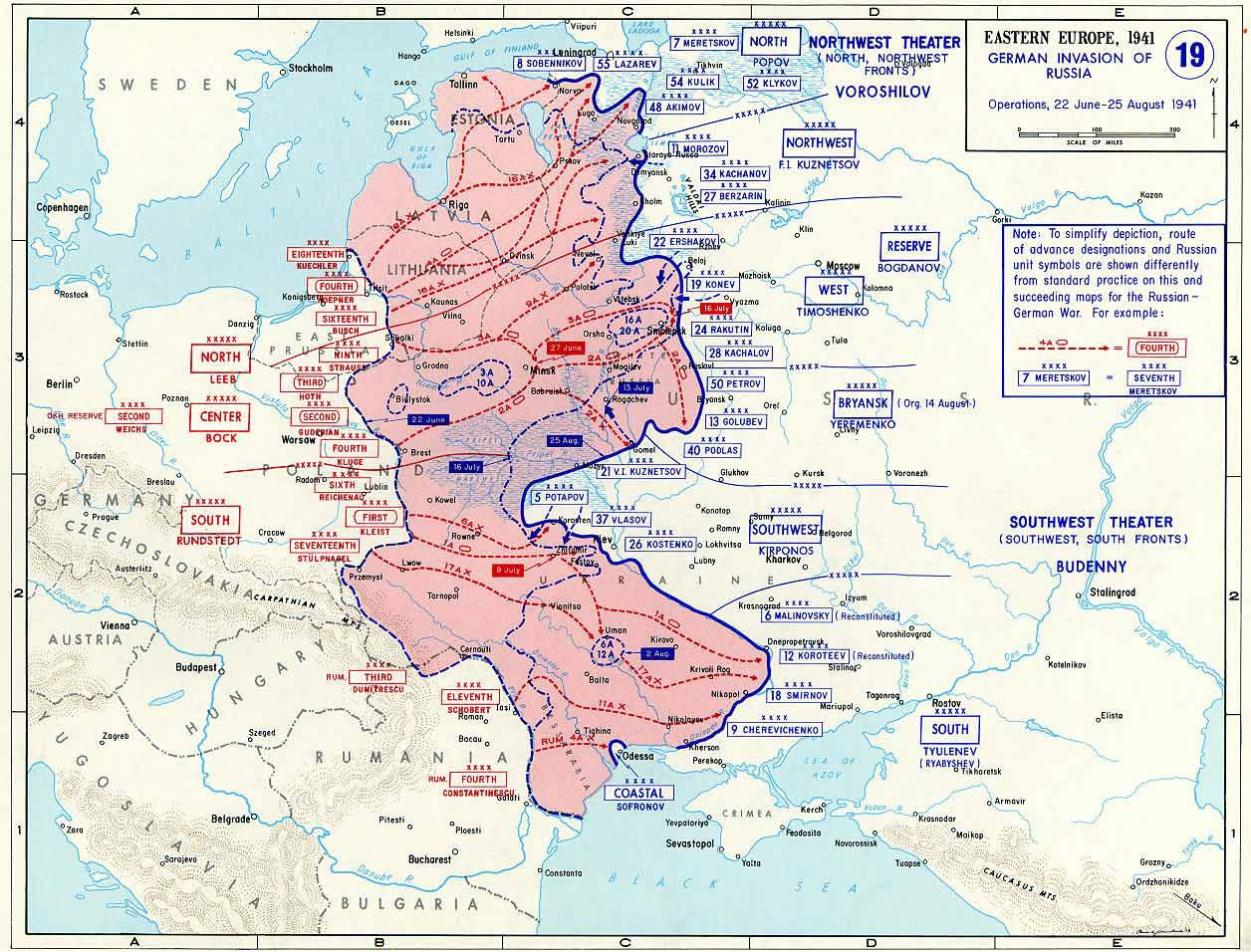 Stalingrad Karte Europa.Map Map Of Operation Barbarossa 22 Jun To 25 Aug 1941 Battle