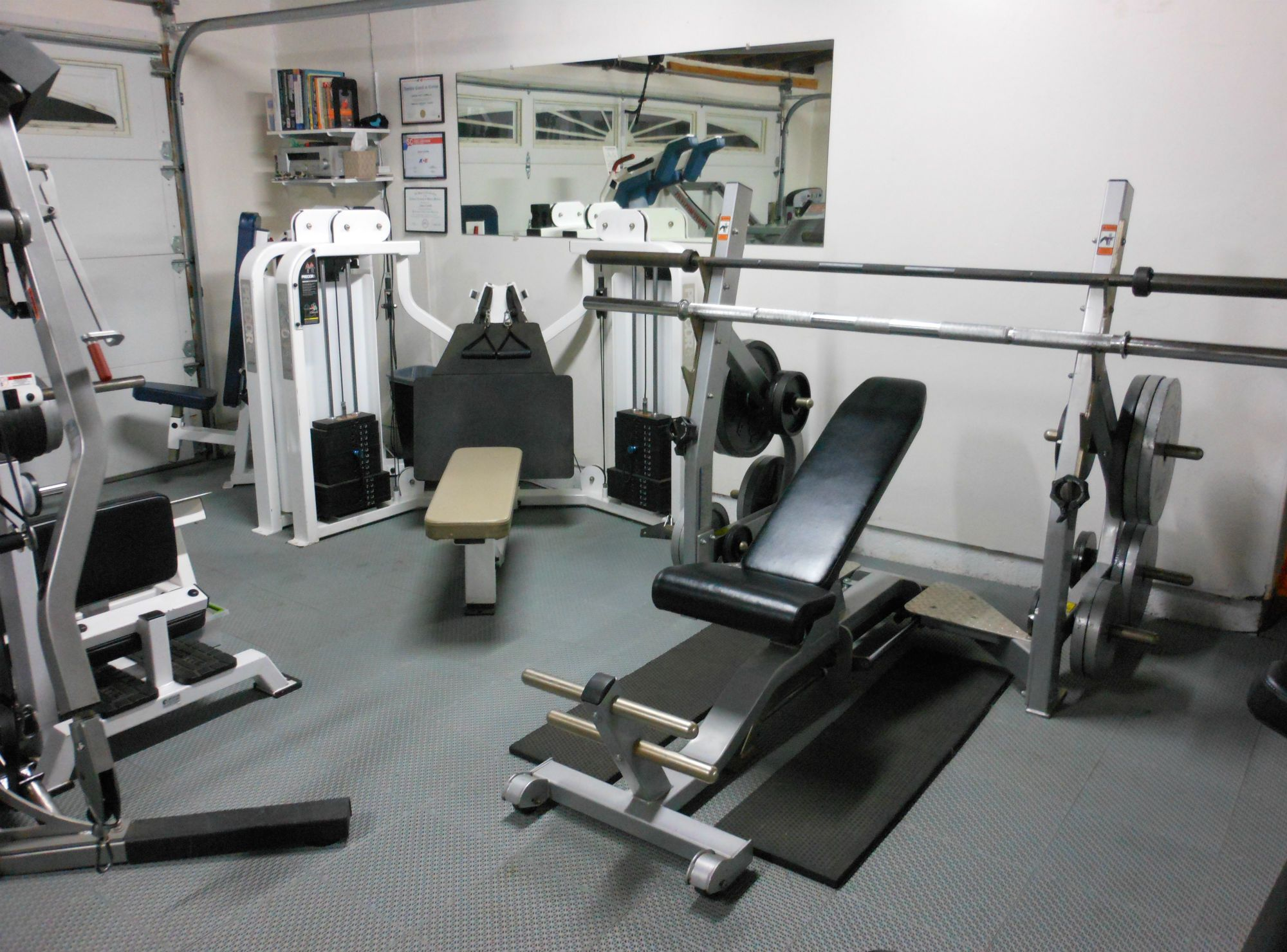 Garage home gym pinterest interior