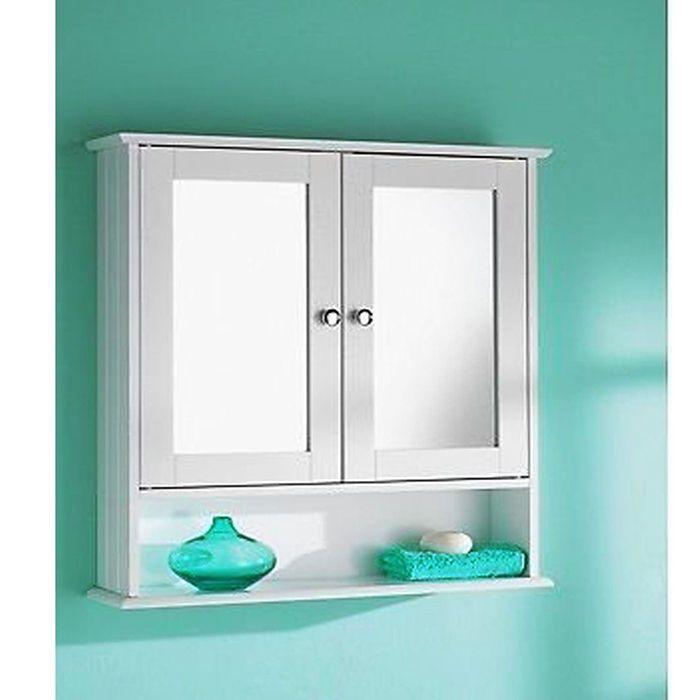 Double Mirror Cabinet Door Bathroom Wooden Indoor Wall Mountable Bath Room Shelf With Images Wooden Bathroom Cabinets