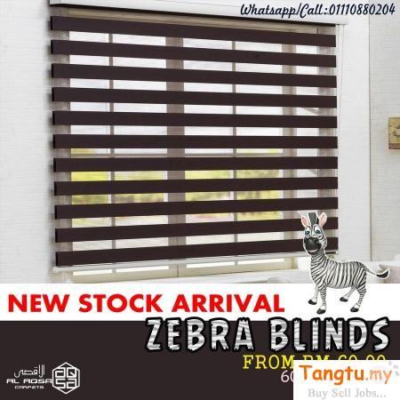Bidai Zebra Tingkap Murah Window Blinds Klang