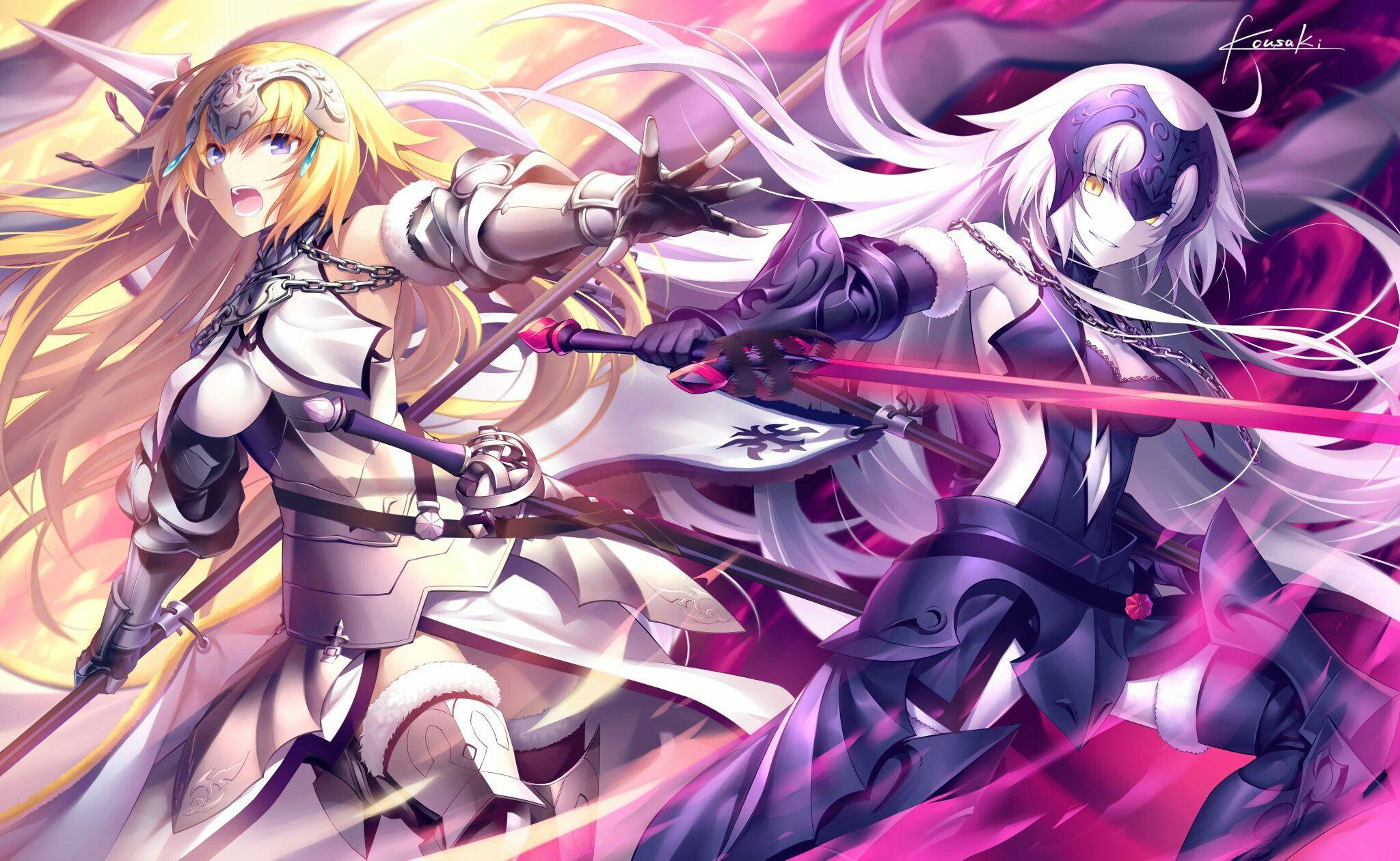 Fate Grand Order Fate Apocrypha Jeanne D Arc Ruler Jeanne Alter Avenger Anime Jeanne D Arc Fate Joan Of Arc Fate