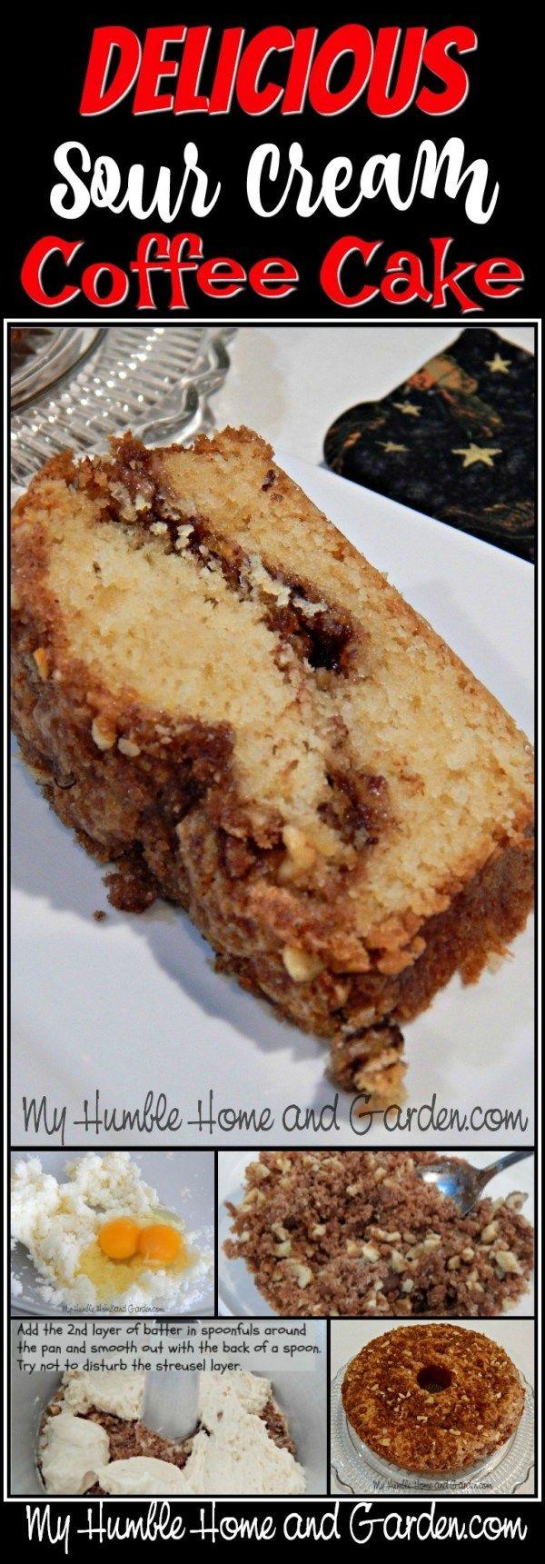 Sour Cream Coffee Cake Recipe Sour Cream Coffee Cake Coffee Cake Coffee Recipes