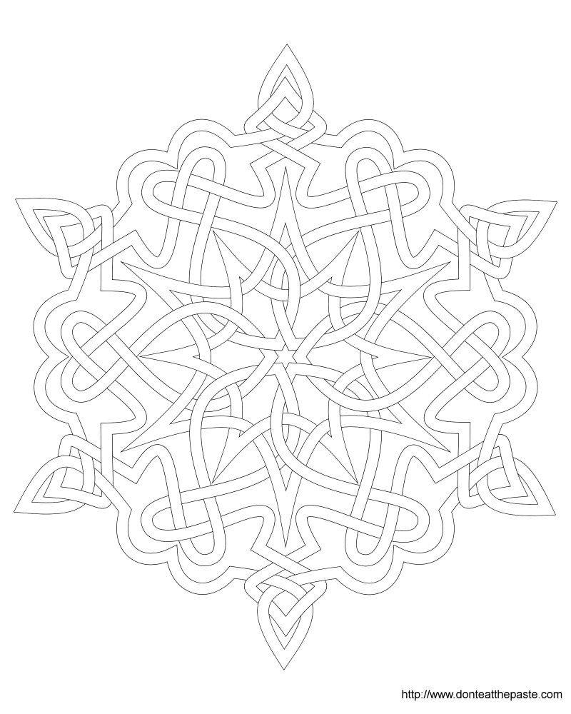 Snowflake Coloring Page Snowflake coloring pages