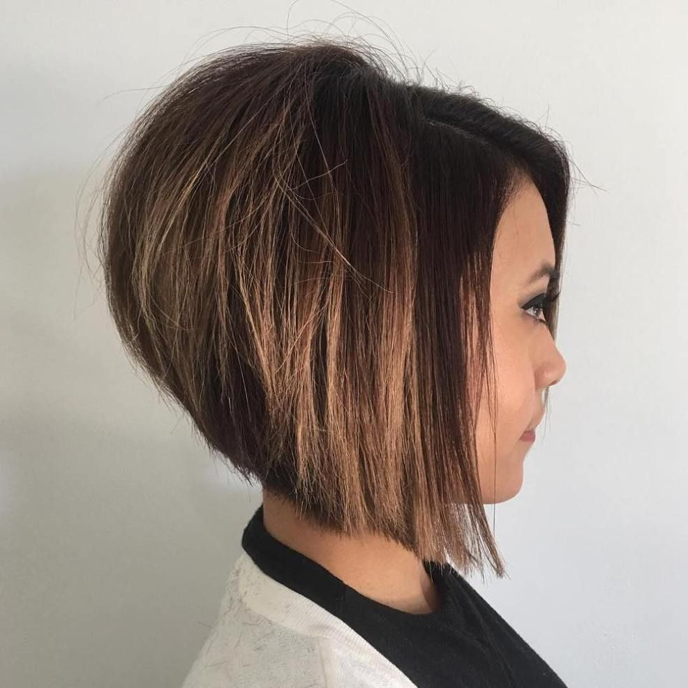 The full stack hottest stacked haircuts caramel balayage
