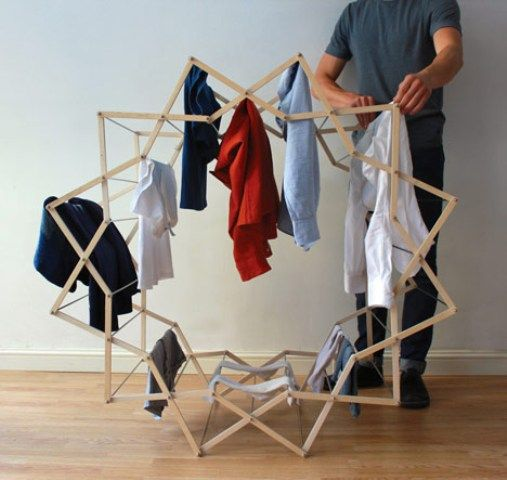 Minimalist And Unique Drying Clothes Star Shaped Tendedero