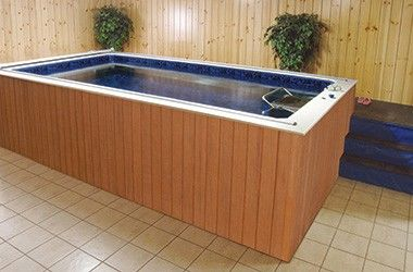 Install A Lap Pool Or Swim Spa Indoors Even Basements Indoor Pool Design Indoor Hot Tub Swim Spa