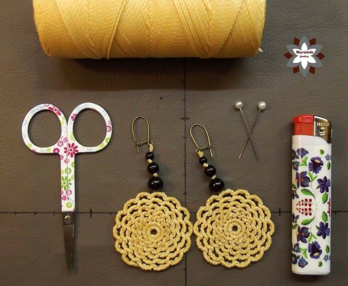 Pin By Lana Kangas On Macrame Tutorials Macrame Earrings