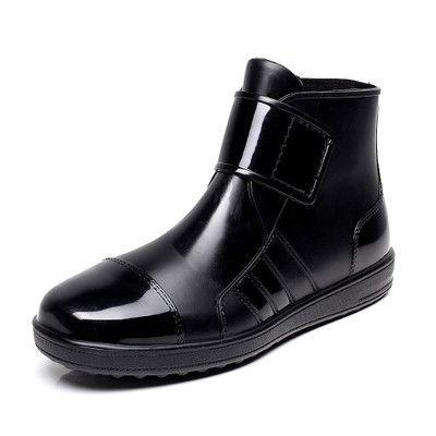 men pvc rain boots ankle waterproof skin fashion rubber