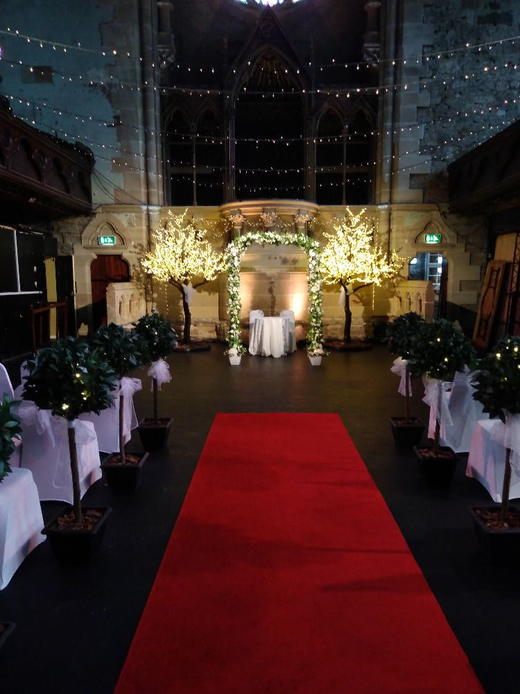 Led Cherry Blossom Trees And Wedding Archway Wedding Archway Cherry Blossom Wedding Wedding Hire