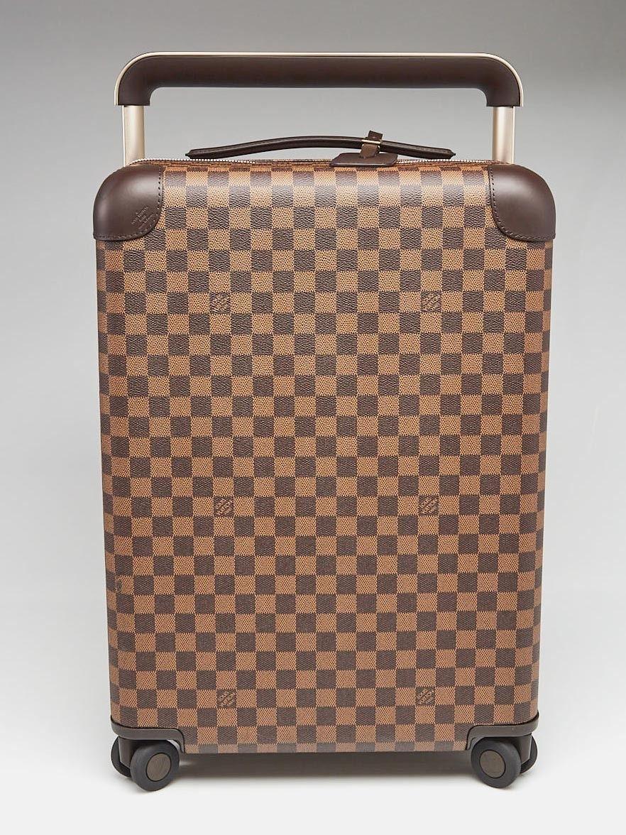 89c0452a8039 Louis Vuitton Damier Canvas Horizon 55 Rolling Suitcase - Normal Brown LV  print