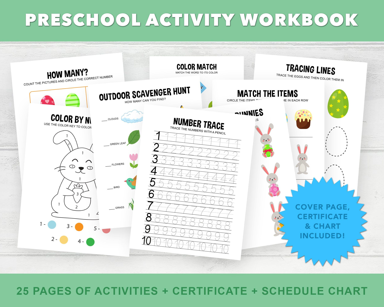 Preschool Workbook Printable Pre K Homeschool Printables