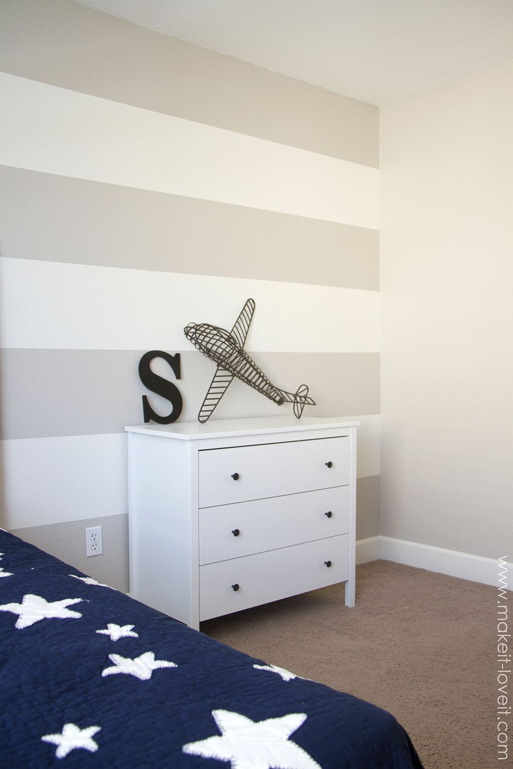 How To Paint Super Straight Horizontal Stripes Kids Room