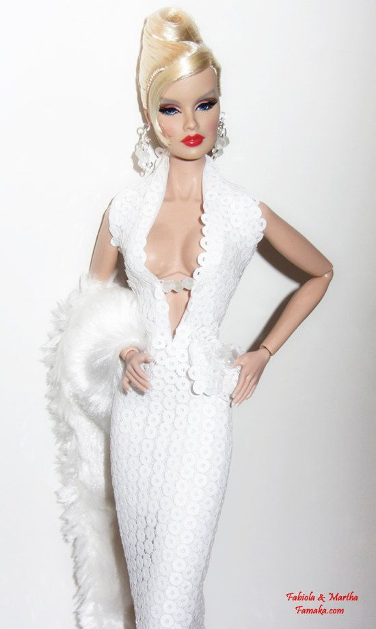 White Sequin Fashion for Fashion Royalty & Silkstone by Famaka, $50.00