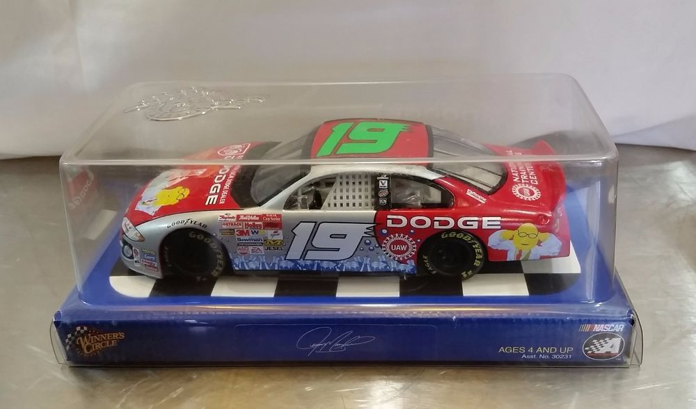 Winners Circle Nascar Action #19 Dodge Car 1:24 The Muppet Show JEREMY MAYFIELD #WinnersCircle #Dodge