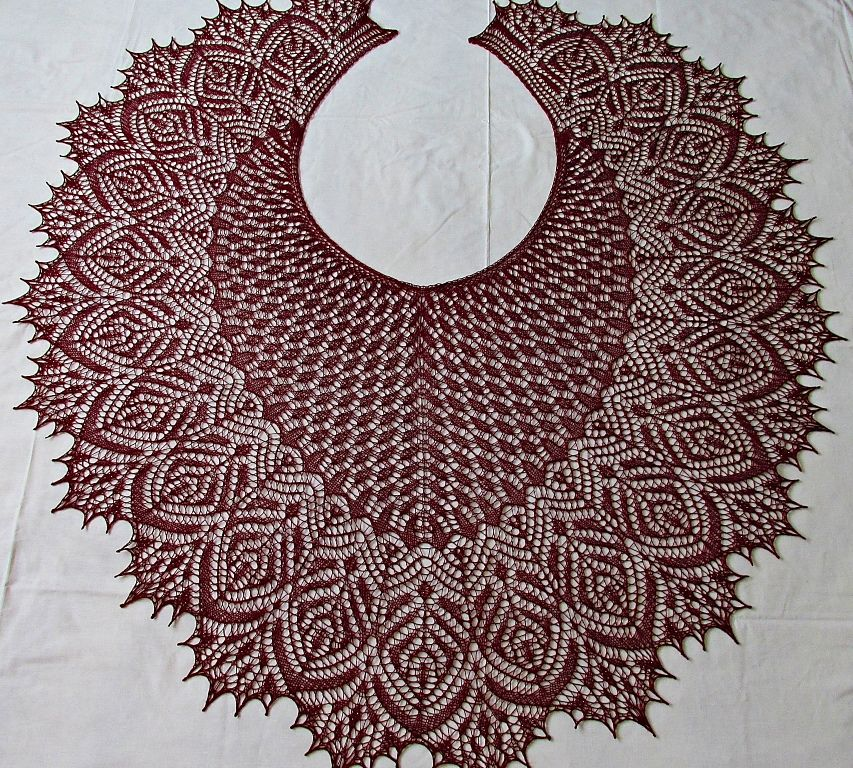 Hortense Beaded Lace Shawl Pattern By Anna Victoria Beaded Lace