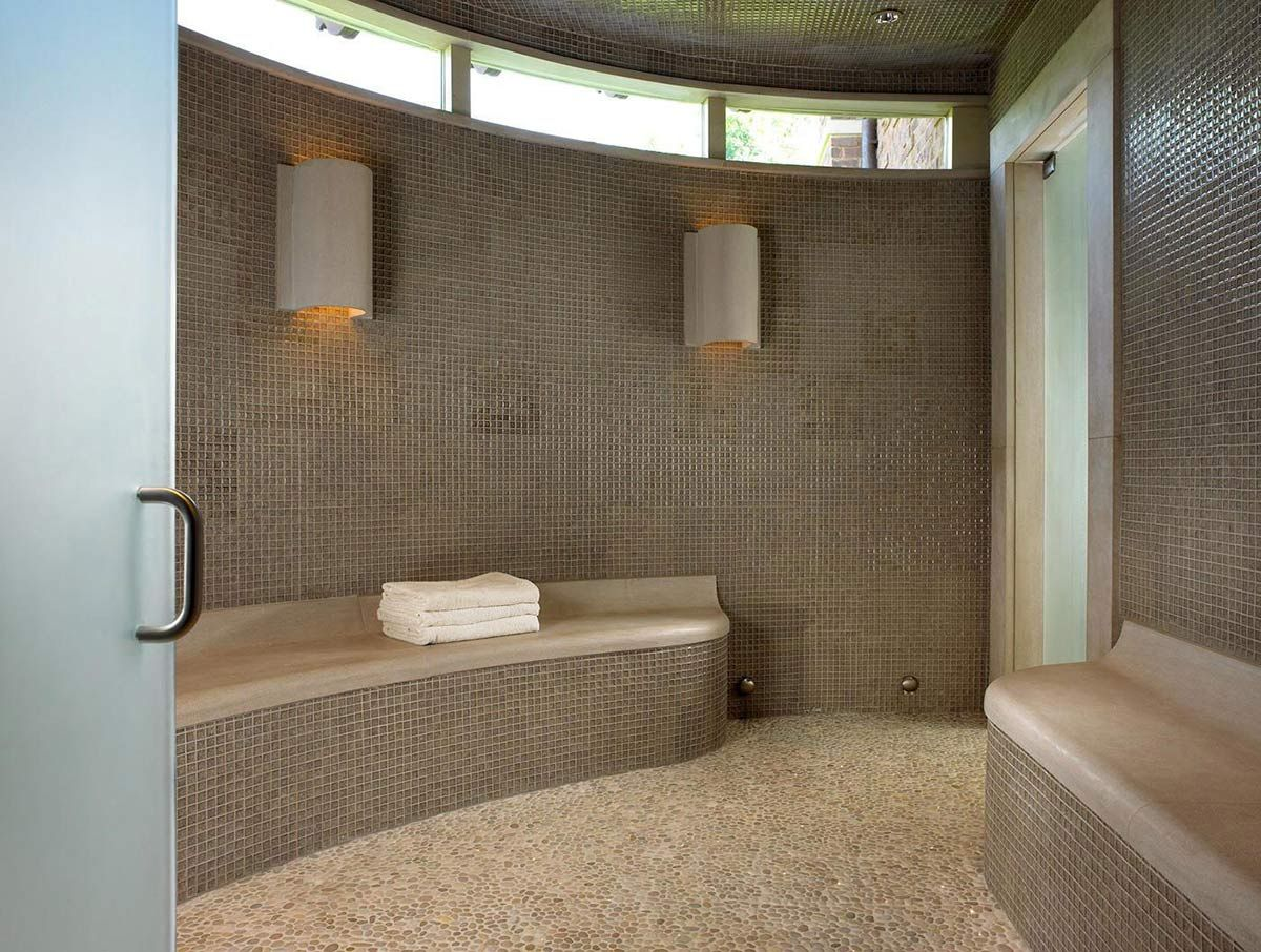 Sauna pool house wine cellar in nashville tennessee by beckwith interiors
