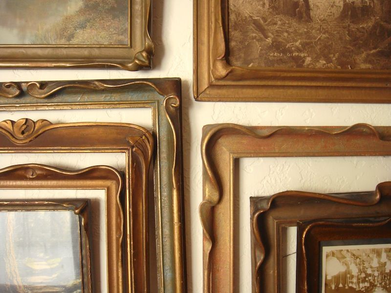 Corner Photo Frames close up of various pie crust frames. art nouveau arts and crafts