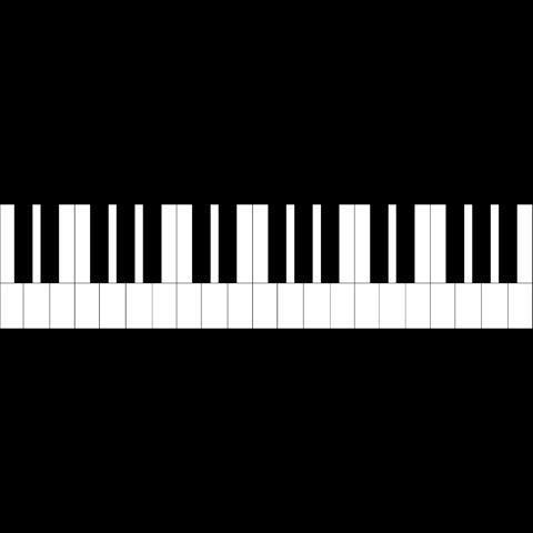 Piano Keys Border Paper Piecing Via Craftsy Free Pattern