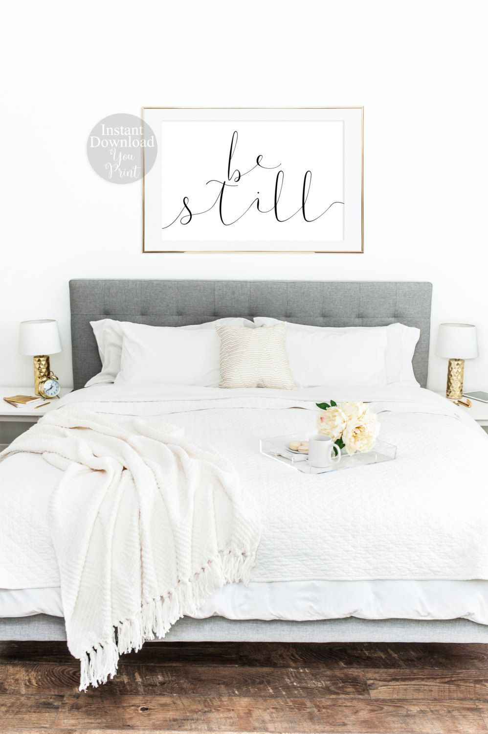 Be still bedroom decor by dear lily mae you print printable wall