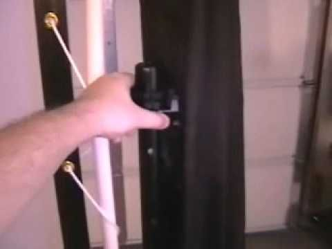 Home Made Projection Screen I Used Common PVC Pipe A Shower Curtain And Some Rope To Create My Own Rear For Use The Occasional