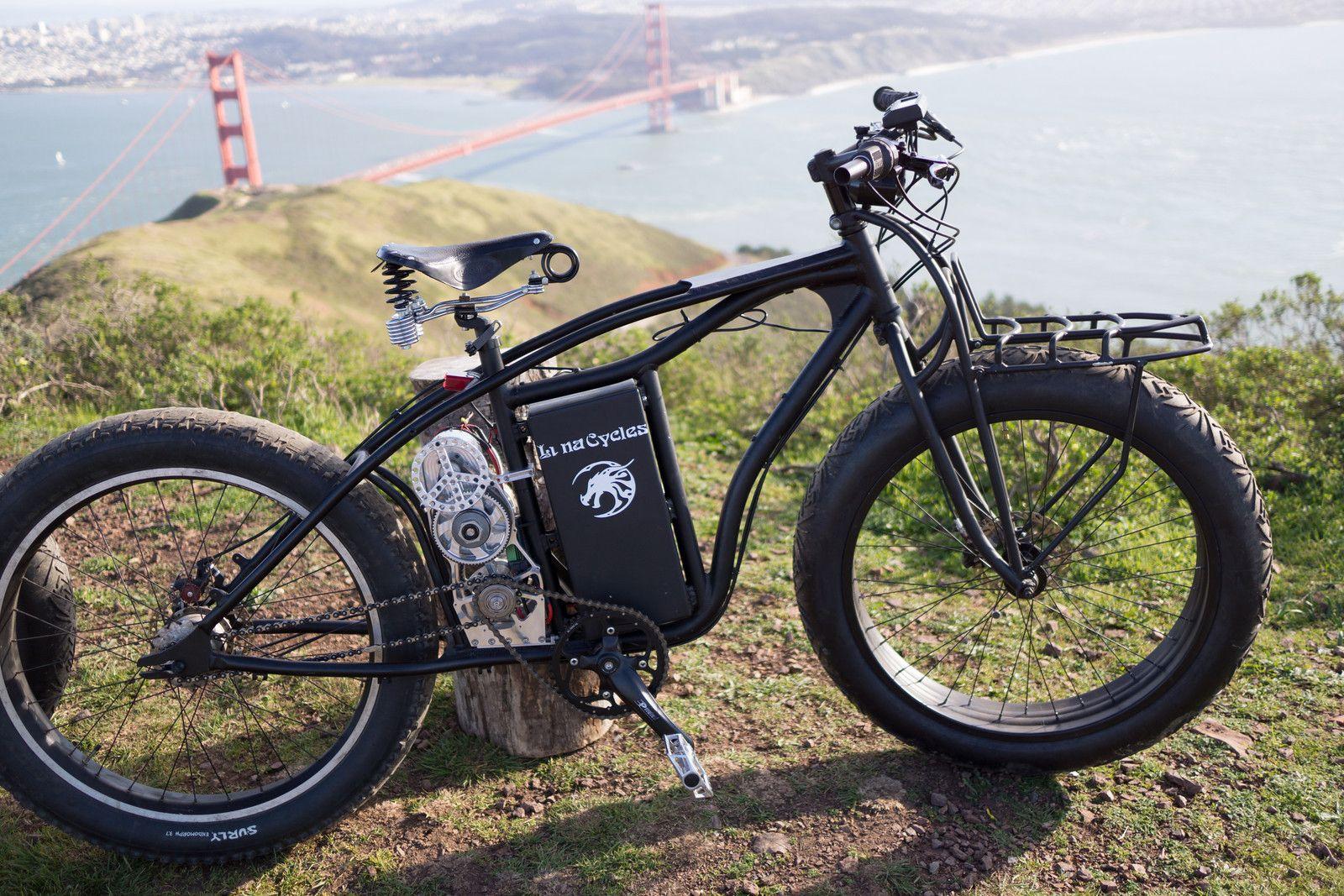 Luna cycles astro mid motor fat electric bike for Mid motor electric bike