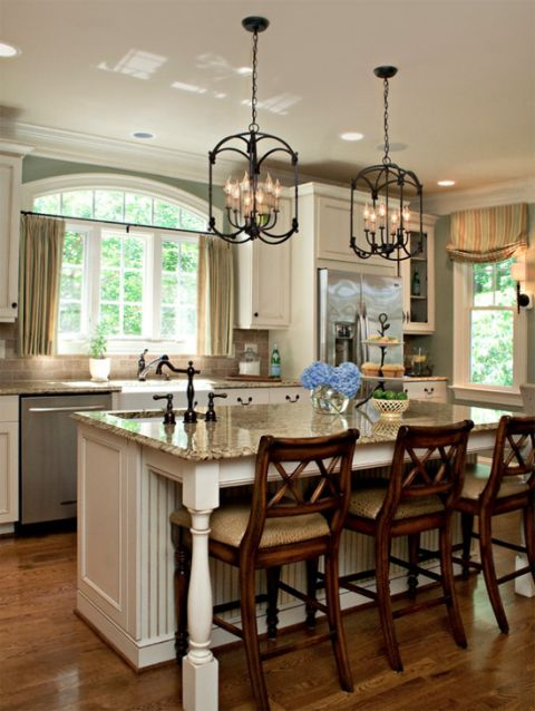 oil rubbed bronze kitchen island lighting table with granite top satin nickel vs home ideas pinterest