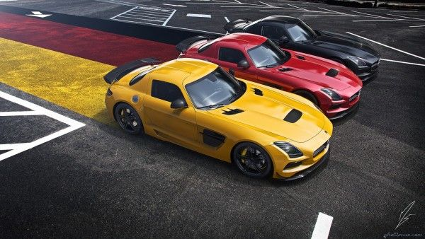 صورة ثلاث سيارات سباق Photo Max صور ماكس Mercedes Benz Sls Cool Sports Cars Amg Car
