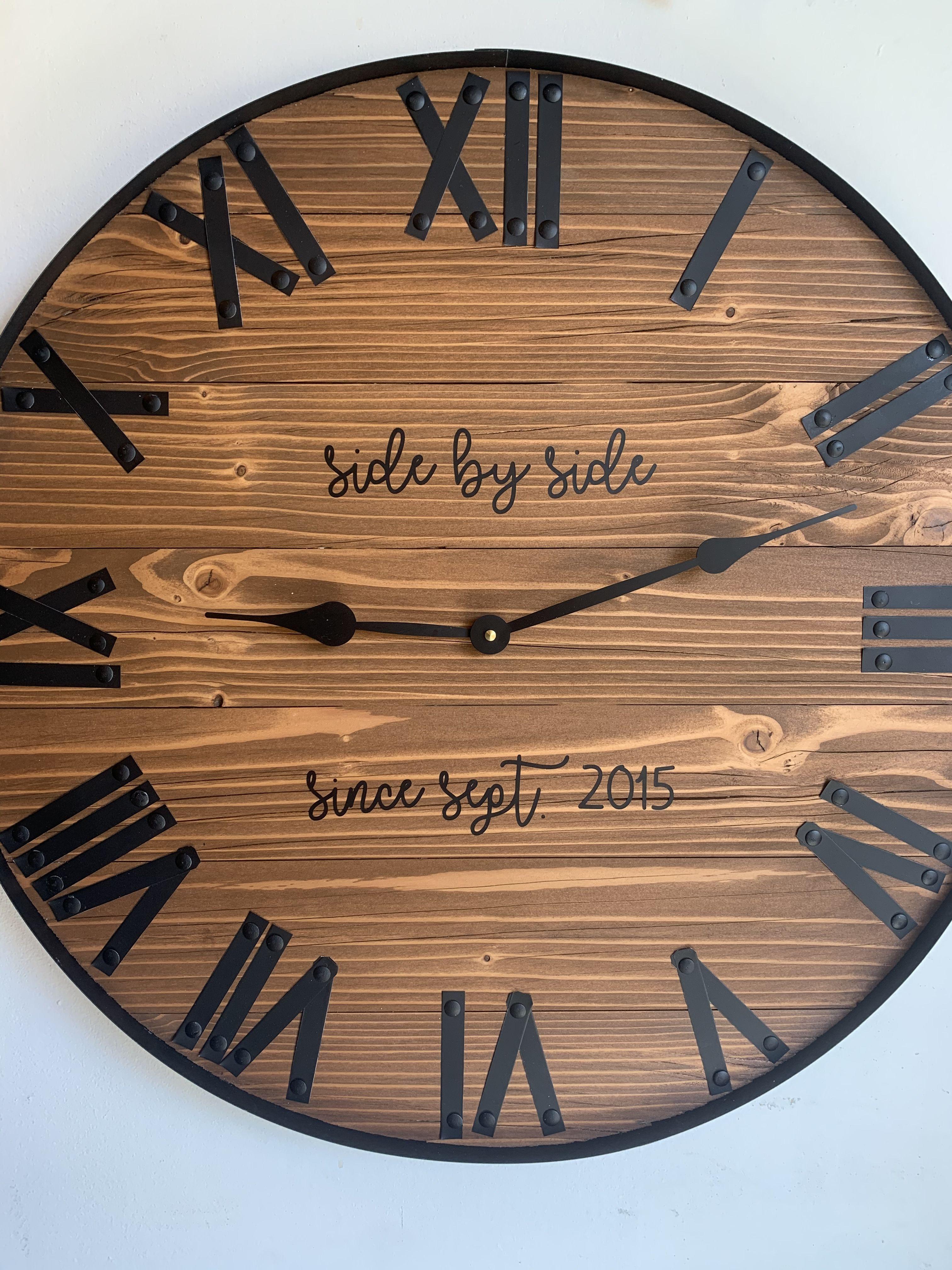 24 large farmhouse wooden wall clock modern farmhouse