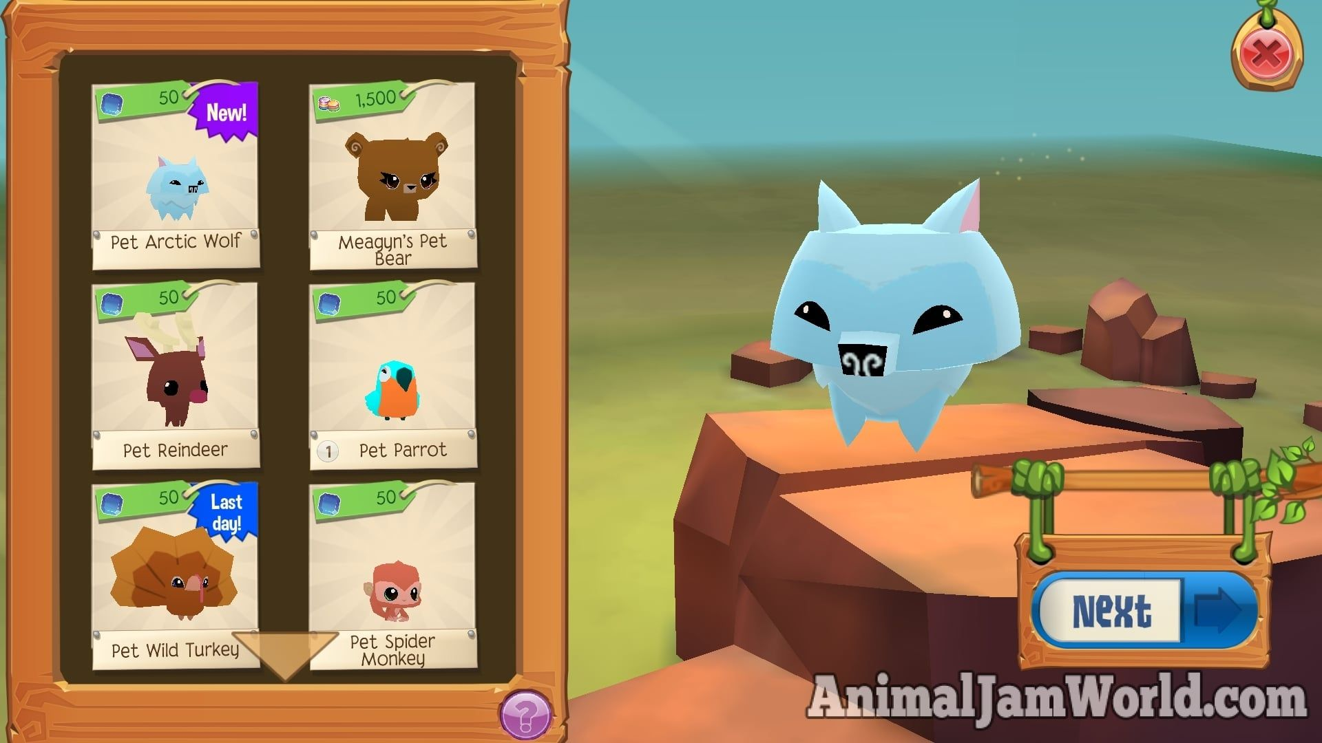 Pet Arctic Wolves In Play Wild Ajpw Pet Guide Animal Jam Play