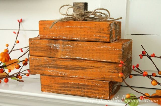 Simply Beautiful by Angela: Scrap Wood Pumpkin