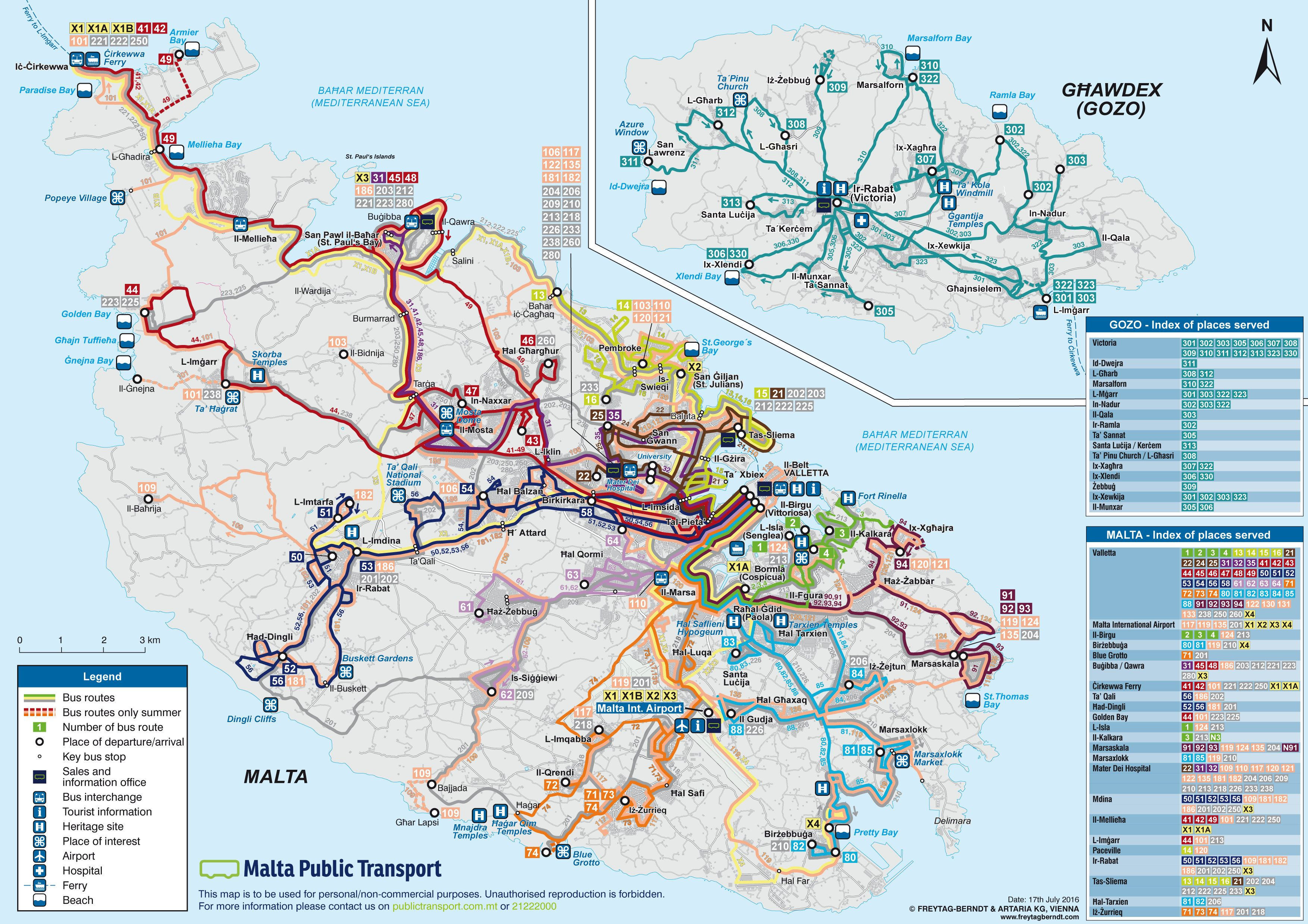 Southern Blue Traveler Visiting Valletta Malta Bus Route Map Route Map Malta Bus
