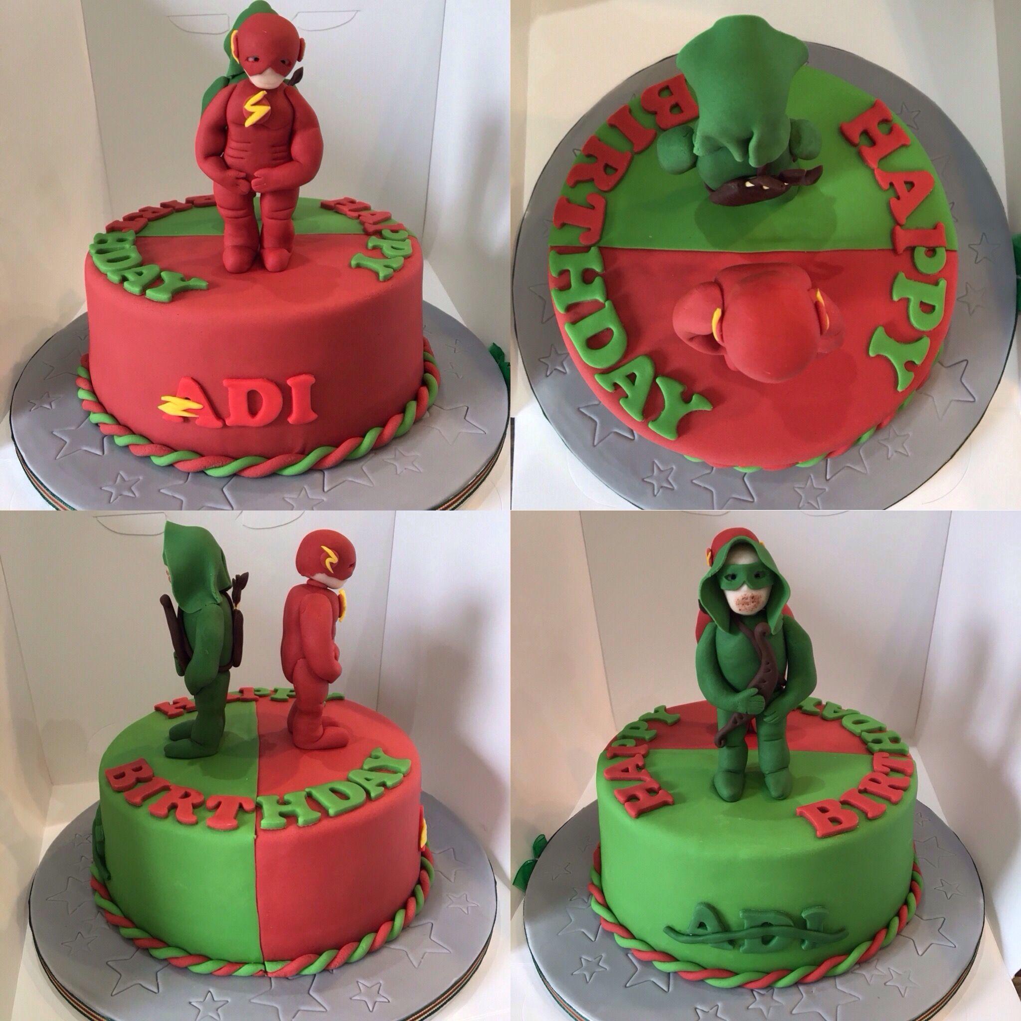 The Arrowthe Flash Birthday Cake Dessert Pinterest Flash