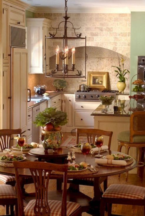 incredible black white kitchen design ideas | 50 Incredible Fancy French Country Dining Room Design ...