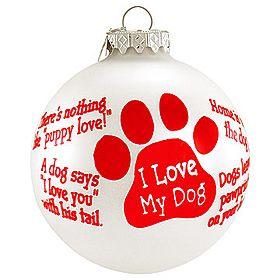 DOG QUOTE ornaments
