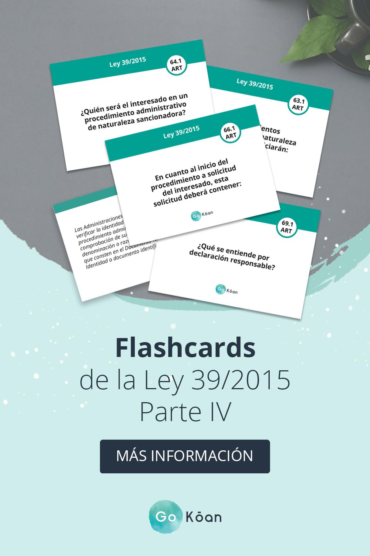 Flashcards Oposiciones Ley 39 2015 Oposiciones Educacion Oposicion Trucos Para La Universidad