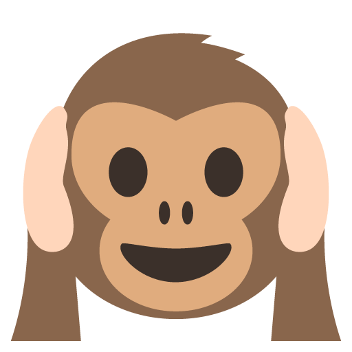 Hear No Evil Monkey Emoji Vector Icon Gfxmag Free Vector Downloads Vector Icons Free Monkey Emoji Art Logo