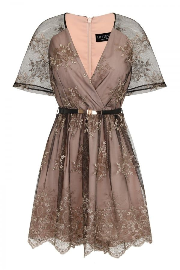 8982bc87784 Black and Nude Embroidery Mini Dress - from Little Mistress UK - cutest  little dress EVER