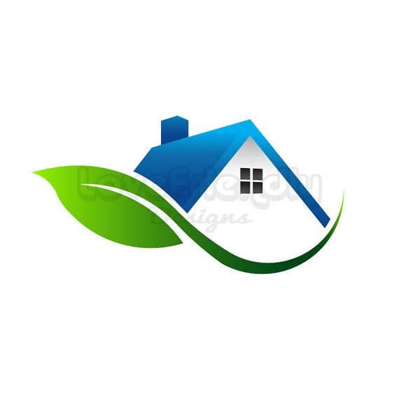 House with leaf logo clip art Concept for an environment friendly