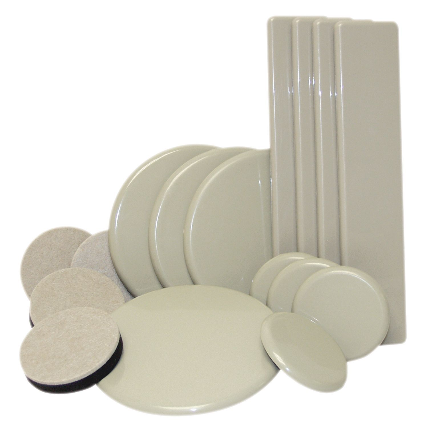 Waxman Consumer Group Oatmeal & Beige Reusable Sliders Moving 16 pc. Kit (Hardware) (Plastic)