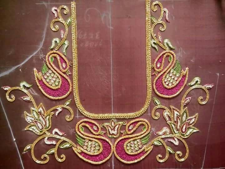 Embroidery swan also pin by saraswathi sattur on works pinterest swans blouse rh za