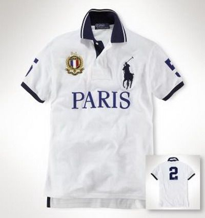 Ralph Lauren Paris NO.2 Polo Shirt White http://www.hxzyedu
