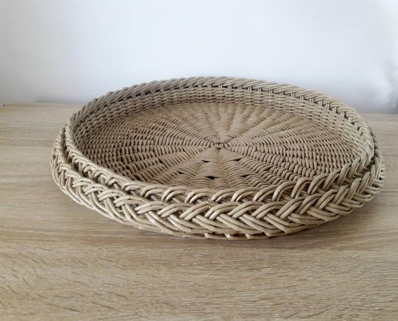 Stupendous Rustic Serving Tray Coffee Table Tray Large Round Wicker Ibusinesslaw Wood Chair Design Ideas Ibusinesslaworg