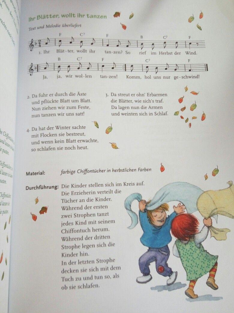 Ihr Blatter Wollt Ihr Tanzen Kinder Lied Herbstlieder Kinder Kindergarten Lieder
