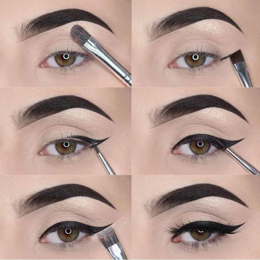 Como delinear os olhos passo a passo   Easy eye makeup tutorial ...
