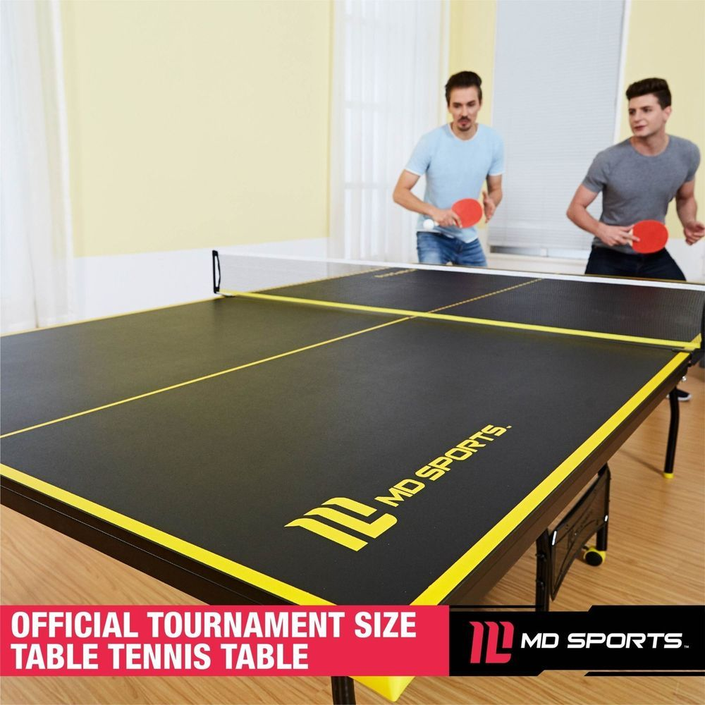 Ping Pong Table Tennis Folding Tournament Size Set Indoor Sport Paddle Balls Table Tennis Ping Pong Table Tennis Ping Pong Table